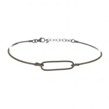 Bracelet Anneau Ovale en...