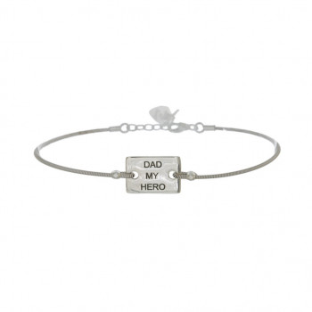 Bracelet PLAQUE MESSAGE...