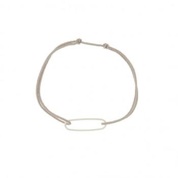 Bracelet Anneau ovale en Corde de Guitare sur cordon