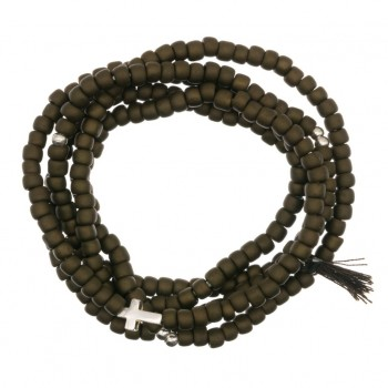 Bracelet Perle 4 Tours Croix