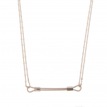 Chocker DOUBLE ME en corde...