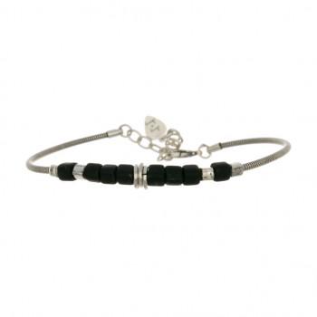 Bracelet PERLES NOIRES ET...