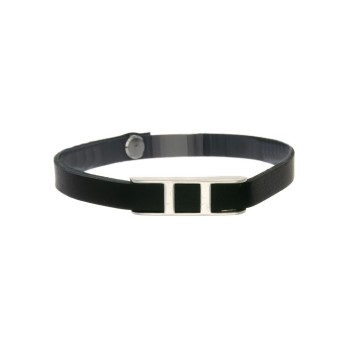Bracelet DOUBLE H sur cuir...
